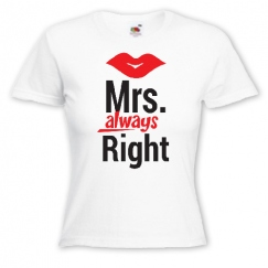 Mrs Always Right с поцелуем